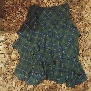 Lauren skirt size 2 nwt christmas plaid
